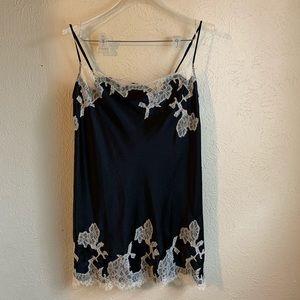 Victoria's Secret Mini Slip Dress White Lace Trim